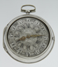 Silver pair cased Dutch verge pocket watch by D.F. Kehlhof, Amsterdam'.