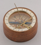 Wooden German sundial in original box