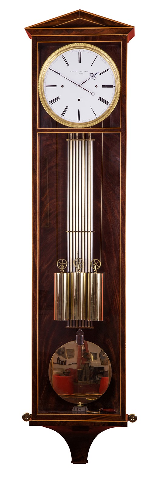 Dachl clock by Philipp Hausner with 1 month duration, c. 1830.