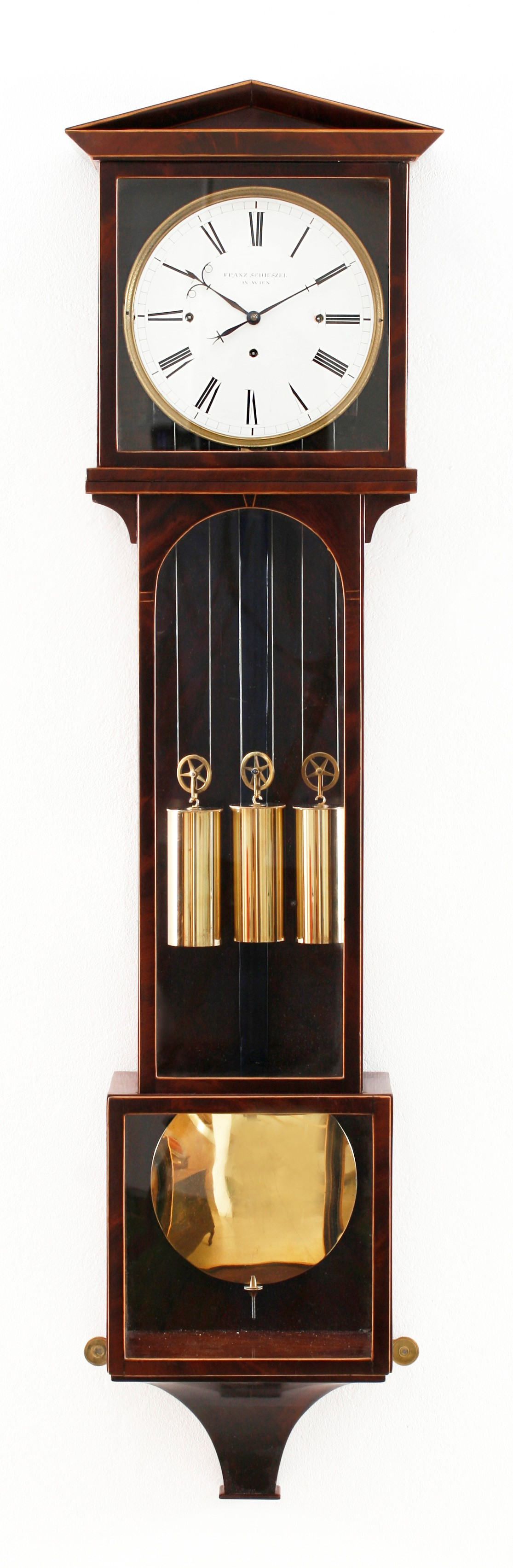 Laterndl clock by Franz Schieszel with 7 days duration, c. 1820.