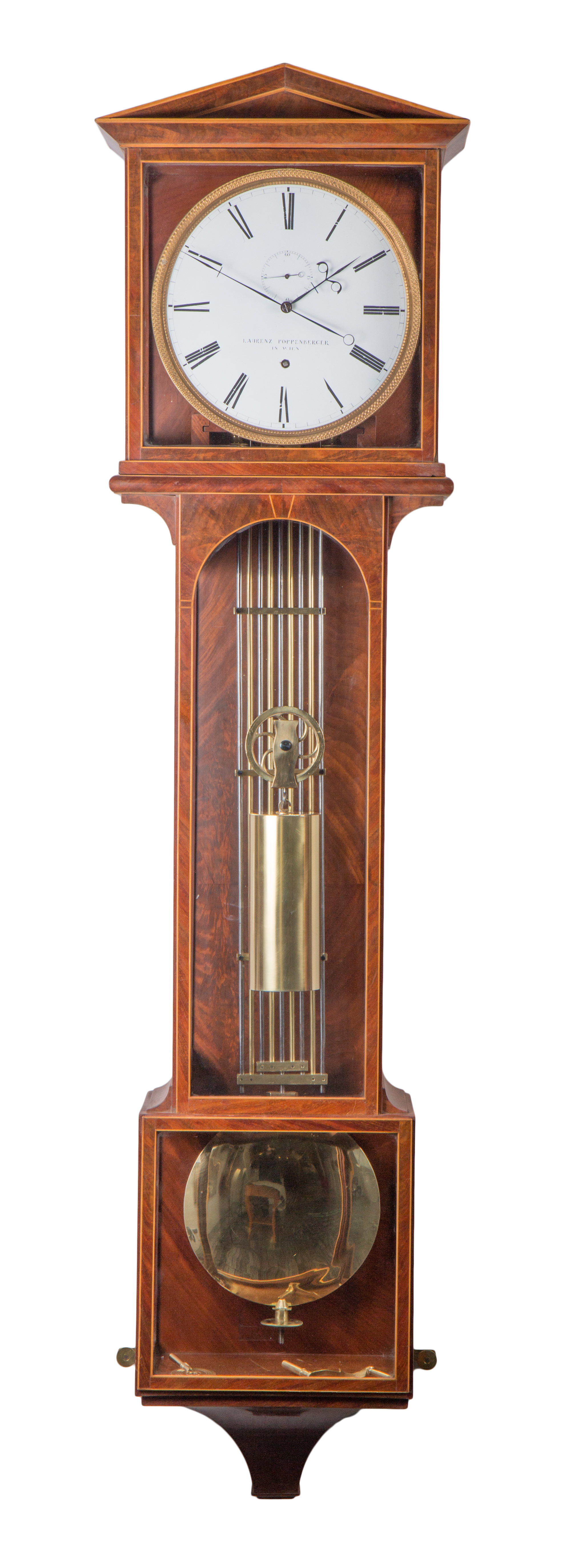 Laterndl clock by Laruenz Poppenberger with 6 months duration, c. 1835.