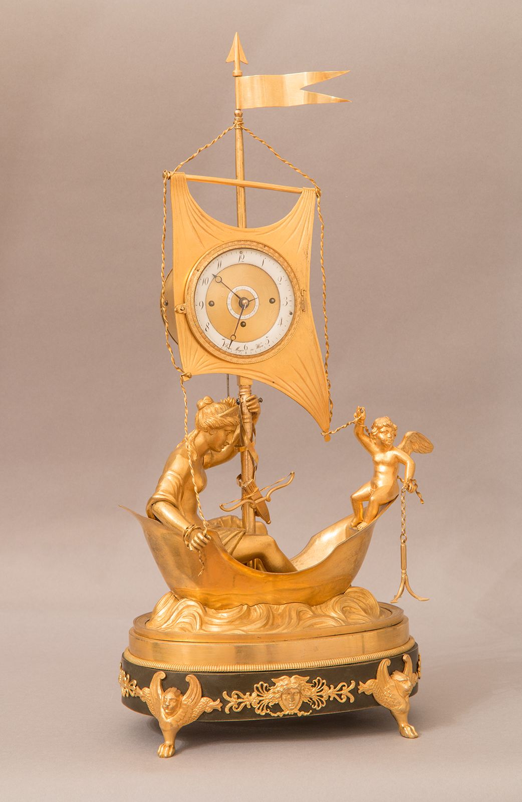 Empire mantel clock by Franz Mayer, c. 1806.