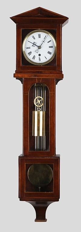 Miniature Laterndl clock with 8 days duration, c. 1850.