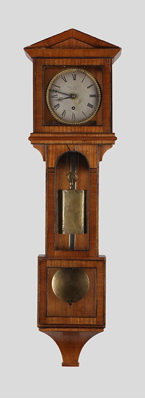 Miniature Laterndl clock by Martin Böck with 8 days duration, c. 1830.