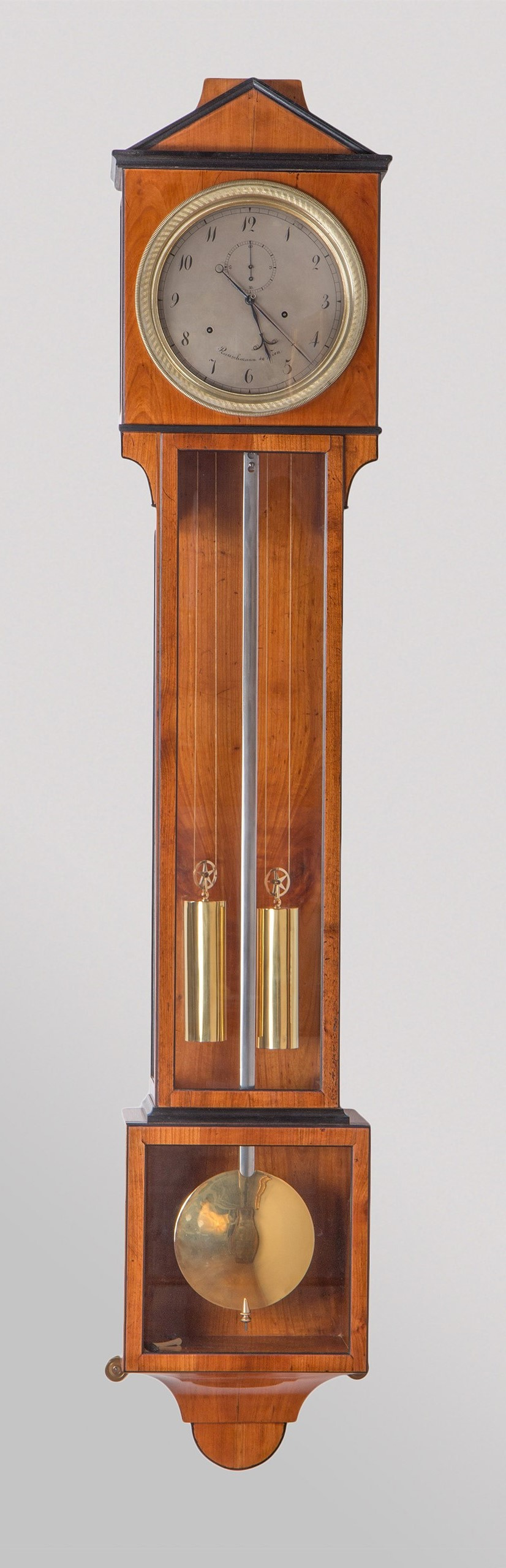 Laterndl clock by Joseph Rauschmann with 8 days duration, c. 1810.