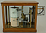232 A FINE AND RARE GERMAN THERMOBAROGRAPH, marked 'O.B.' (Otto Bohne Berlin), circa: 1900.