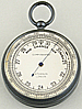 128. AN ENGLISH POCKET BAROMETER, signed 'AITCHISON LONDON', circa: 1900.