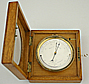 207. A RARE AND EARLY ENGLISH-FRENCH ANEROID BAROMETER, signed 'E J DENT Paris', circa: 1850.