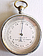 113. A FRENCH POCKET BAROMETER, signed 'VIALARD 9 PASSAGE JOUFFROY PARIS', circa: 1890.