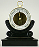 153. A RARE VERY SMALL 10 CM DIAMETER FRENCH BOURDON BAROMETER, signed 'E. BOURDON, PARIS', circa: 1865.