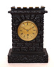 English Fusee Timepiece Black Marble Mantel clock, Frodsham & Baker