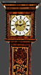 W. SKILMORE, LONDON. AN OLIVEWOOD OYSTER VENEERED MONTH DURATION MARQUETRY LONGCASE CLOCK.