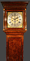 A very good, very early, 18C walnut and arabesque marquetry longcase clock by Brounker Watts of London.