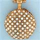 Fine and lovely LeCoultre 18K gold, pearl and diamond ladies antique pendant watch