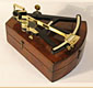 19th C ebony octant by Hughes, London.