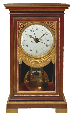 Equation of Time Regulator. Robert Robin, case Attributed to Ferdinand Schwerdfeger. Paris, late 18th century, Directoire period, movement dated 1802.