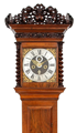 An antique early Dutch walnut longcase clock, Fromanteel Amsterdam, circa 1690