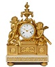 A fine French Louis XVI ormolu and marble mantel clock designed by Osmond signed Viger, circa 1770