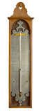 Dutch, antique, Louis XV Thermometer, Signed: C: RUSPINUS  Fecit Amsteldam and dated 1755