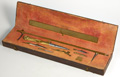Antique German brass and iron drawing set in later wooden case, mid 18th Century.