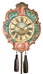 Eighteenth-century weight-driven iron wall clock, Switzerland, c. 1760.