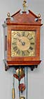 Amsterdam wall clock c. 1740. Signed Willem Redie.   ON HOLD