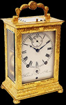 Antique carriage, travel, capucine, 'pendules d'officier' clocks